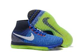 Nike Zoom All Out Flyknit nike zoom all out flyknit sock collar mens sports shoes blue