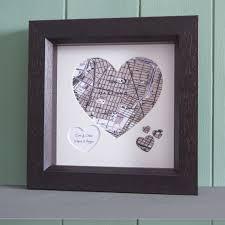 Heart Map Custom Made Usgs Heart Shaped Framed Map