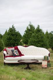 comfy and cozy christmas tree farm portrait session in texas