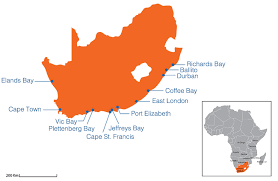 j bay south africa map surf holidays south africa surfing cs resorts spots