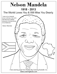 coloring books nelson mandela free coloring