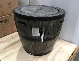 Costco Outdoor Furniture With Fire Pit by Global Outdoors Wine Barrel Gas Fire Table Costco Weekender