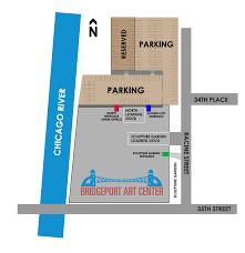 Chicago Street Parking Map by Plan Your Visit Bridgeport Art Center Chicago