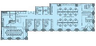 floor plan of office building brand new furnished office space sublease at the gm building