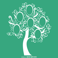 green family tree template vector