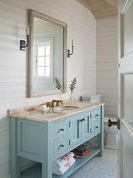 Bathroom Vanity With Shelves Turquoise Bathroom Vanity Cottage Bathroom Dearborn Builders