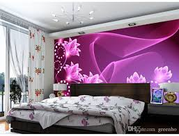fashion wall mural purple flowers photo wallpaper dazzles silk