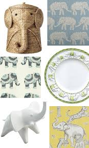 elephants in home decor in honor of the republican convention