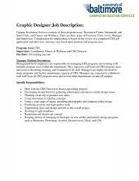 Restaurant Supervisor Job Description Resume Graphic Designer Job Description Resume Resume For Your Job