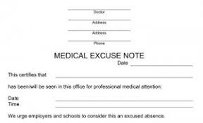 free fake excuse notes for missing work or