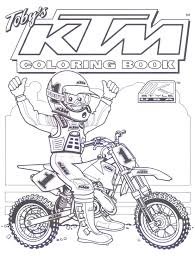 ktm dirt bike coloring pages motorcycle awesomeness pinterest