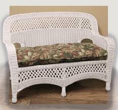White Resin Wicker Loveseat Indoor Wicker Furniture Rattan Living Room Set