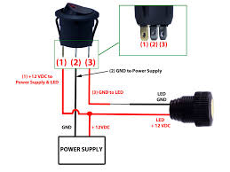 round rocker switch with led toggle wiring diagram gooddy org