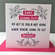 funny u0027happy wedding day u0027 card u0027pregnant u0027 by the new witty