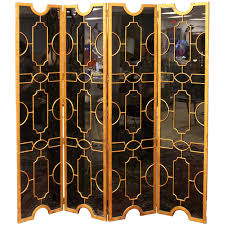 Screen Room Divider Antique Screen Room Divider Four Fold Victorian Leather Embossed