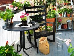 exterior lovely small balcony design for your home using black