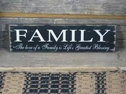 family wood family s greatest blessing wood sign primitive quilt