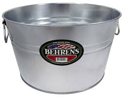 Oval Party Beverage Tub by Amazon Com Behrens 0gs Galvanized Steel Round Tub 5 Gallon