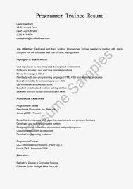Sample Mainframe Resume by Sample Resume For Programmer Free Resume Example And Writing