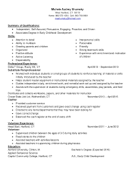 Childcare Resume Examples by Michele Audrey Shumsky Childcare Resume Linked In