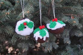crochet tree decoration christmas pudding decor crochet