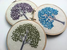 tree by mlmxoxo hand embroidered home decor tree of
