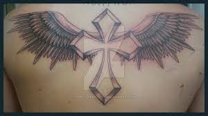 cross with wings tattoo by hellcatmolly on deviantart