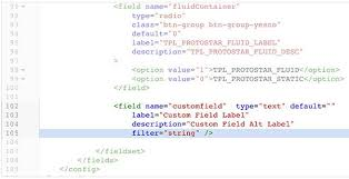 add a custom text field to a joomla template