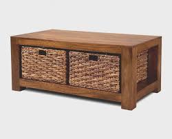 coffee table with baskets under decoration ideas top notch dark cherry wood rectangular storage