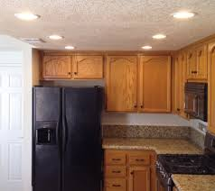 Recessed Lighting For Kitchen by Recessed Lighting Options Kitchen Soffit Flat Black Refrigerator