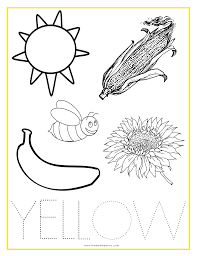 coloring pages yellow things