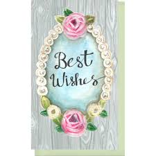 small enclosure card best wishes pearls and wood violet cottage