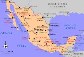 map of mexico with states a map of mexico