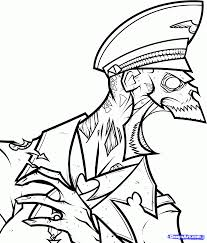 Drawn Soldier Zombie Pencil And In Color Drawn Soldier Zombie Call Of Duty Black Ops Coloring Pages