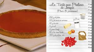 fr3 recette cuisine recette tarte aux pralines roses de joseph les carnets de julie