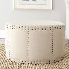 Leather Ottoman Round by Best 20 Round Ottoman Ideas On Pinterest Teal Sofa Large Round