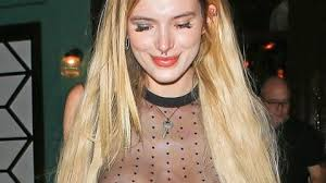 girl nipple rings images Bella thorne frees the nipple piercing in totally sheer top on jpg
