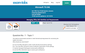 70 346 microsoft real exam questions 100 free exam labs