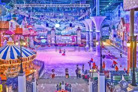 onemount snowpark is an indoor winter theme park stock photo