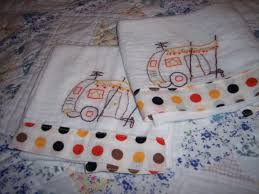 across my kitchen table embroidered dish towels