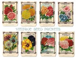 seed packets vintage flower seed packet collage sheet by alicewcollection