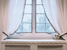 White Curtains With Pom Poms Decorating Marvelous White Curtains With Pom Poms Decorating With 155 Best