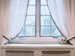 Curtains With Pom Poms Decor Marvelous White Curtains With Pom Poms Decorating With 155 Best