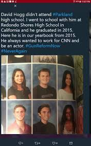 fake news he is a student journalist in florida he did show up