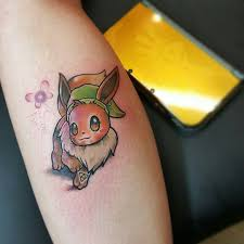 pokemonday 2 eevee link crossover by campohltattoos from fish