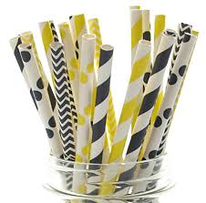 Amazon Bee Party Supplies Bumble Bee Straws 50 Pack