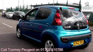 peugeot 101 car 2012 peugeot 107 allure 1l electra blue metallic ea12snv for sale