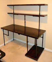 pipe desk with shelves black iron pipe table pipe desk black iron industrial computer
