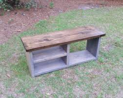 rustic boot bench with shoe rack and boot storage cubby