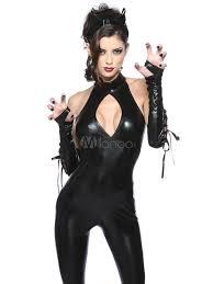 Catwoman Costume Halloween Fabulous Black Faux Fur Catwoman Costume Women Costume